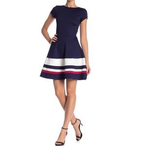 Love...ady Short Sleeve Fit & Flare Dress Large